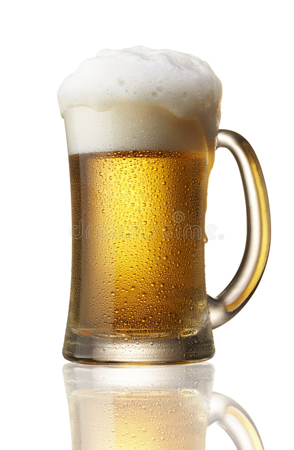 Beer over flow royalty free stock photography