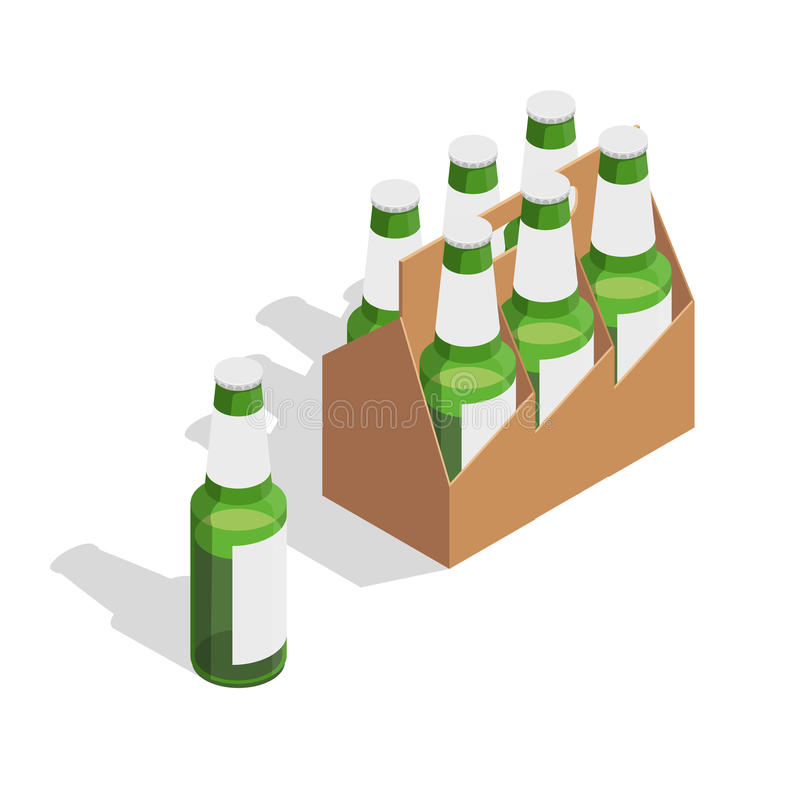 Beer Pack Isometric Composition stock illustration