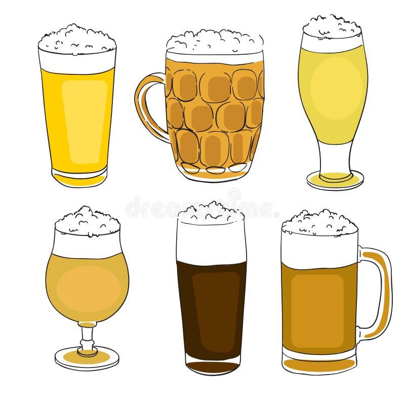 Beer Pints Series Stock Photos