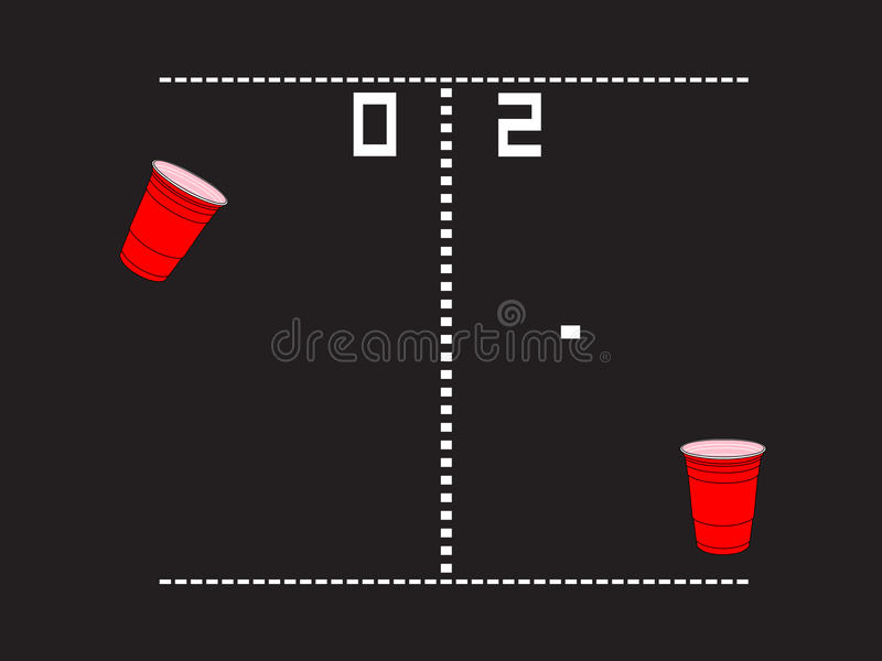 Download Beer Pong Arcade stock vector. Image of wasted, whiskey - 22125418