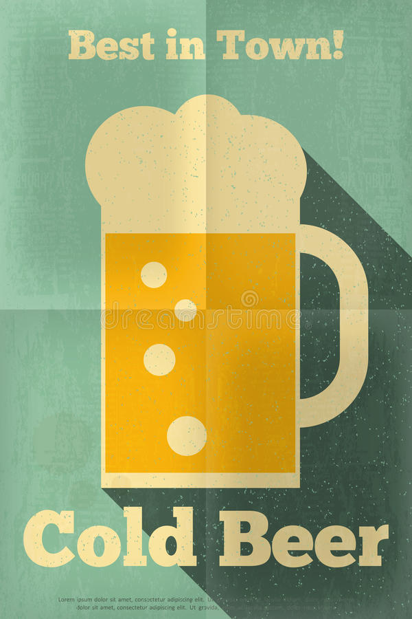 Download Beer Poster Stock Vector Illustration Of