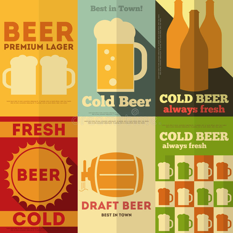 Beer Posters vector illustration