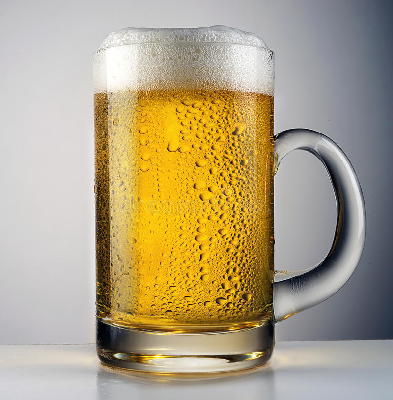 Beer pour royalty free stock image