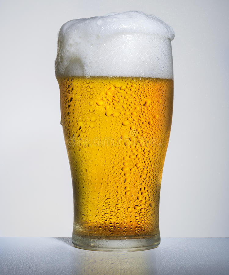 Beer pour stock images