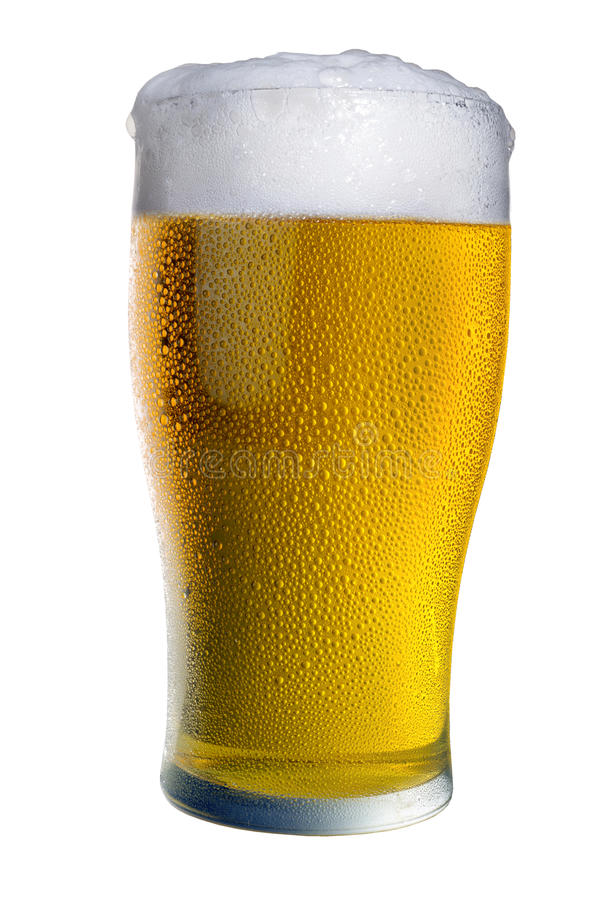 Beer pour stock photo