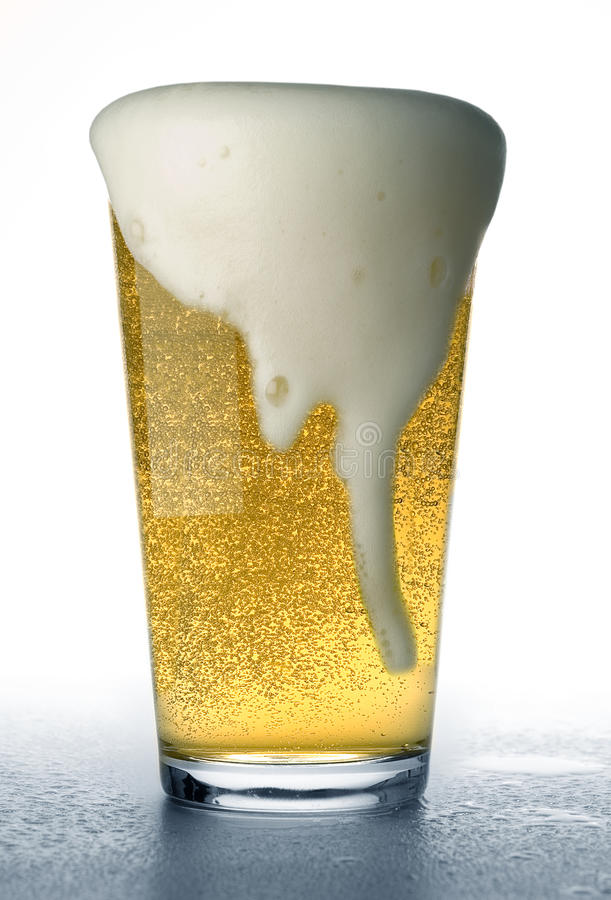 Beer pour over royalty free stock photo