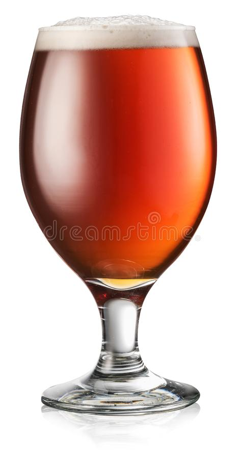 Beer pouring process. Filling a mug with a beer. File contains clipping path stock image