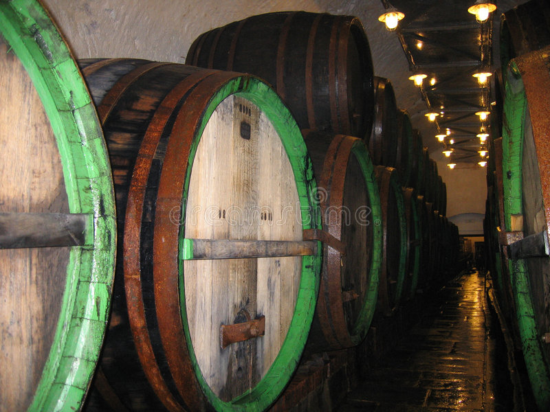 Beer Production Wood Barrel royalty free stock photo