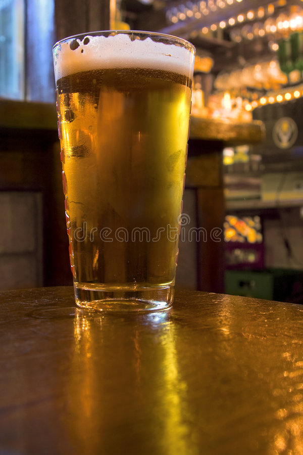 Beer In A Pub royalty free stock photo