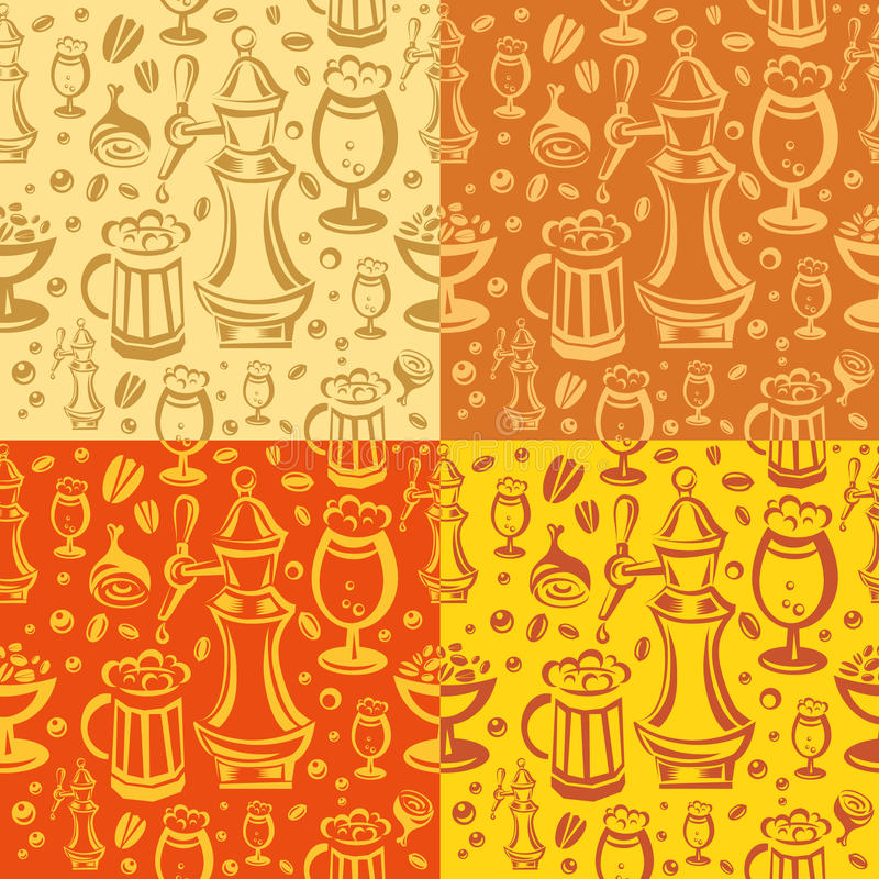 Beer Pub Seamless Pattern Royalty Free Stock Photos