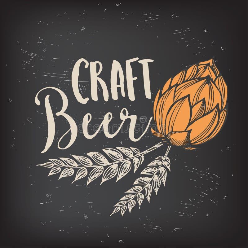 Beer restaurant cafe menu, template design. royalty free illustration