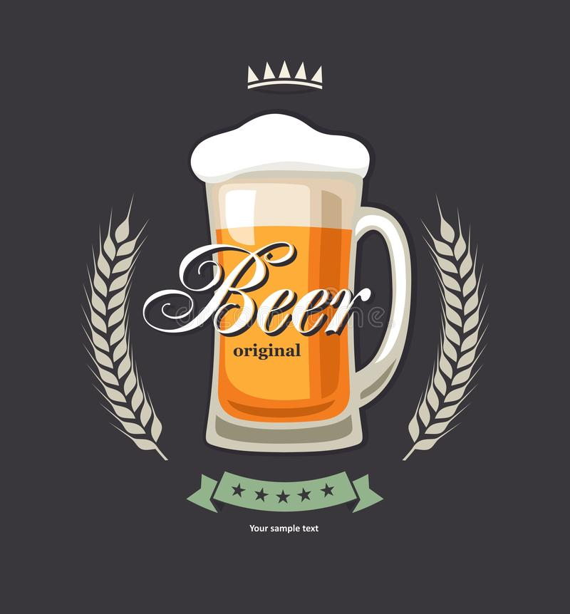 Beer royalty free illustration