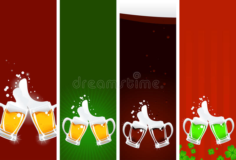 Beer's banners vector illustration