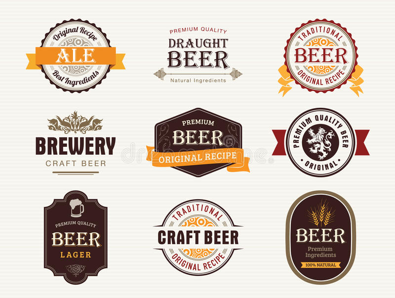 Beer seals and stamps royalty free stock images