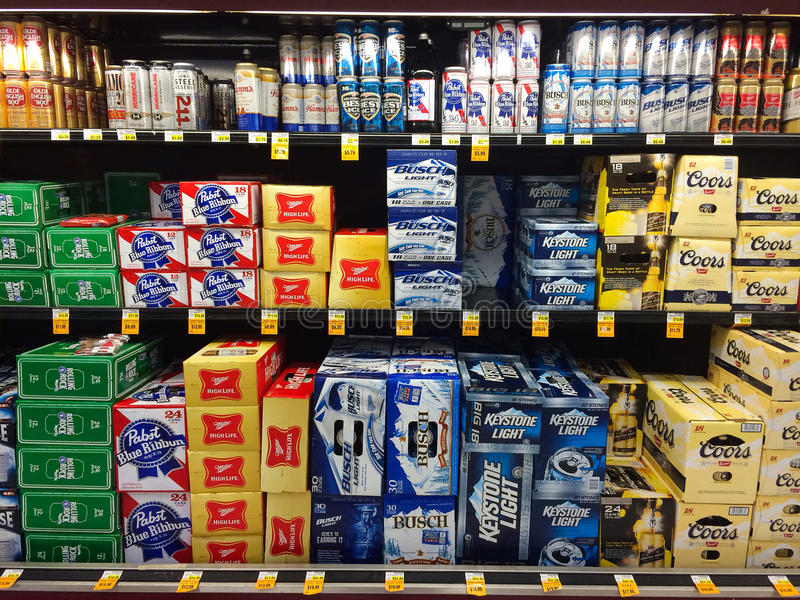 Beer Selection Fred Meyer Springfield, OR royalty free stock image