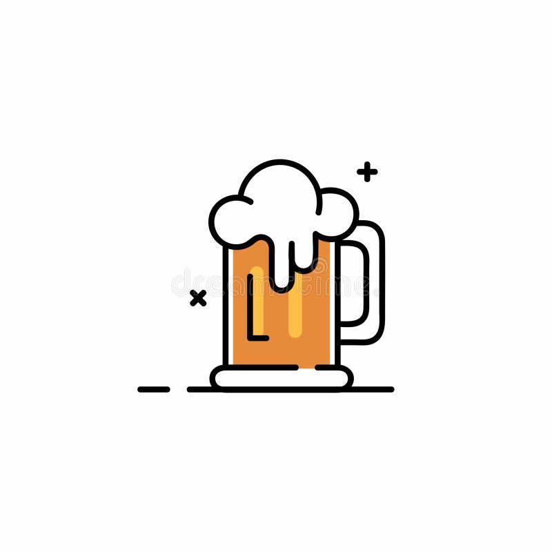 Beer Simple Line Art Vector stock photo