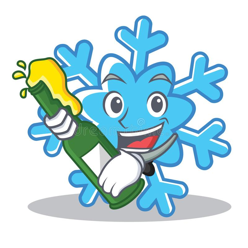 With beer snowflake character cartoon style. Vector illustration vector illustration
