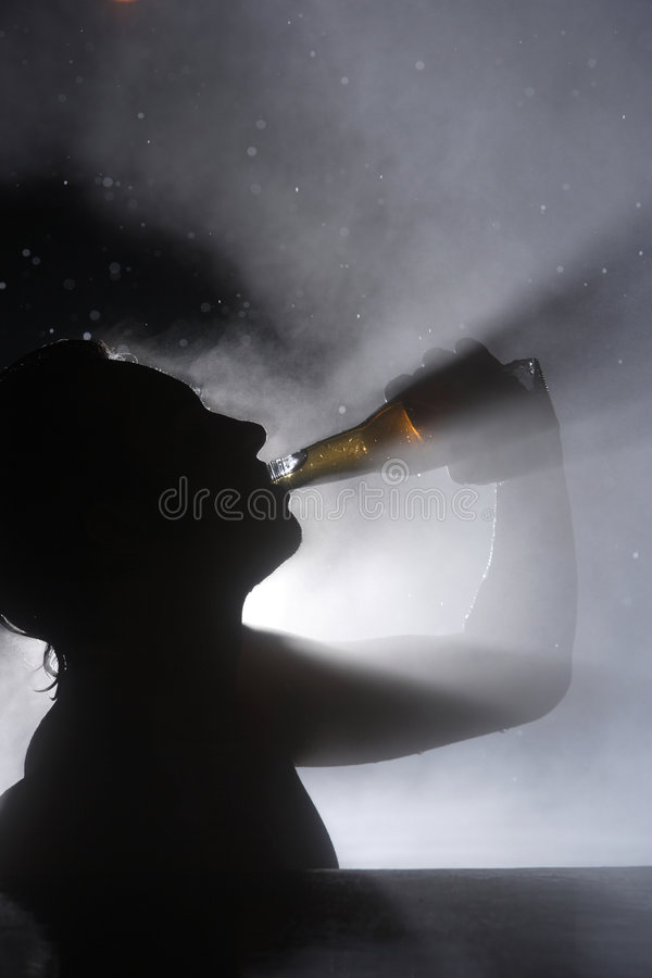 Beer in the spa royalty free stock image