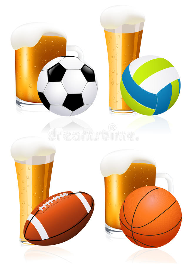 Download Beer and sports stock vector. Image of collection, alcohol - 14532210