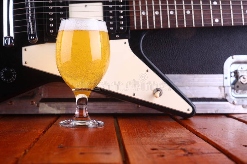 Beer on stage stock photo