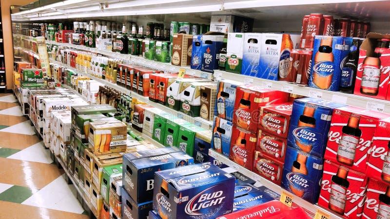 Beer in store. stock photos