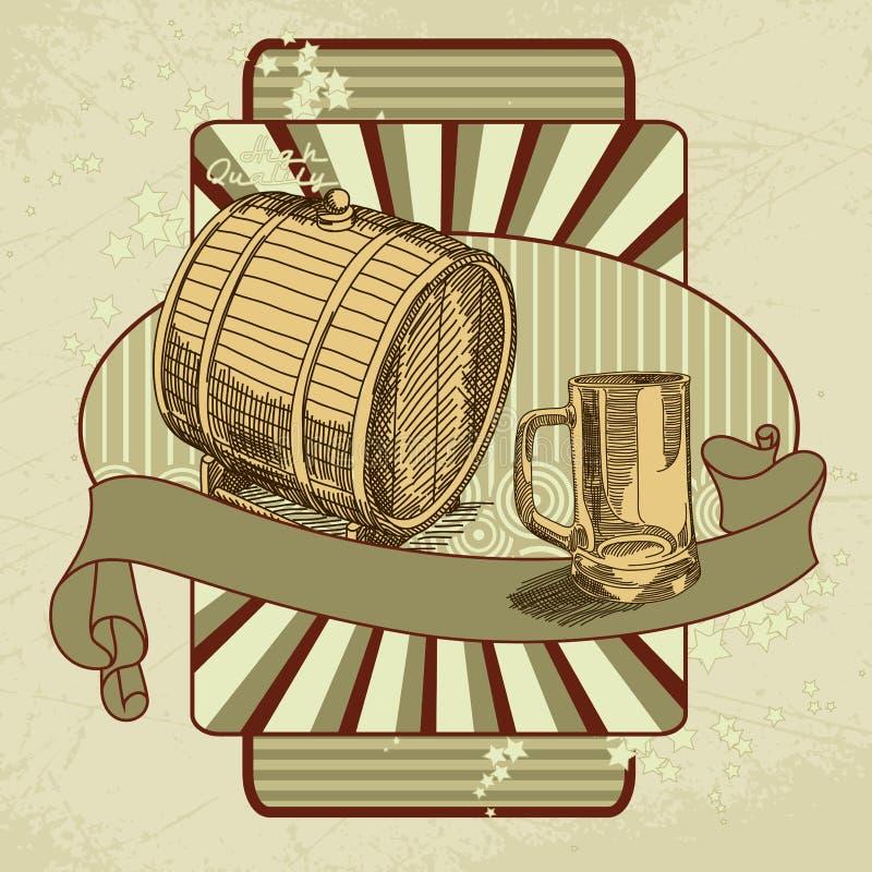 Beer tag. Original beer tag, this illustration may be useful as designer work royalty free illustration