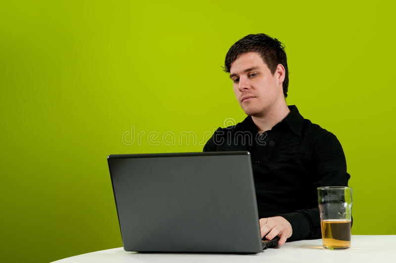 Beer Time On Work Stock Image