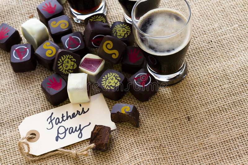 Beer truffles. Decorated for Fathers Day stock images
