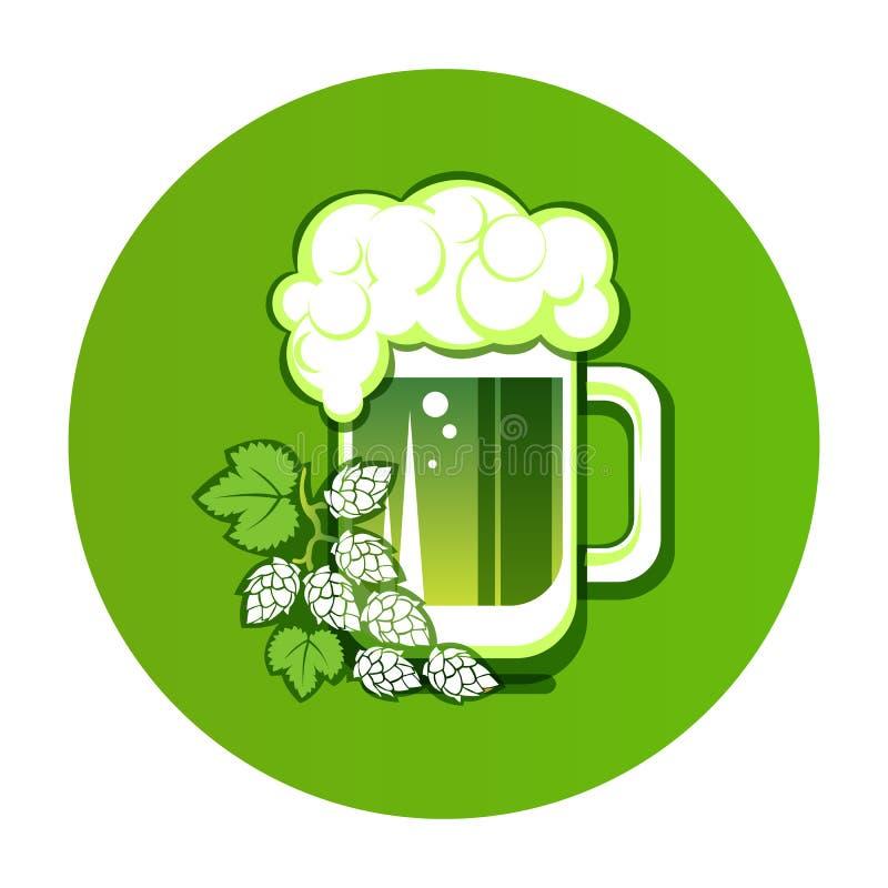 Beer-14 vert illustration de vecteur