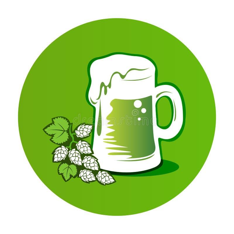 Beer-16 vert illustration libre de droits