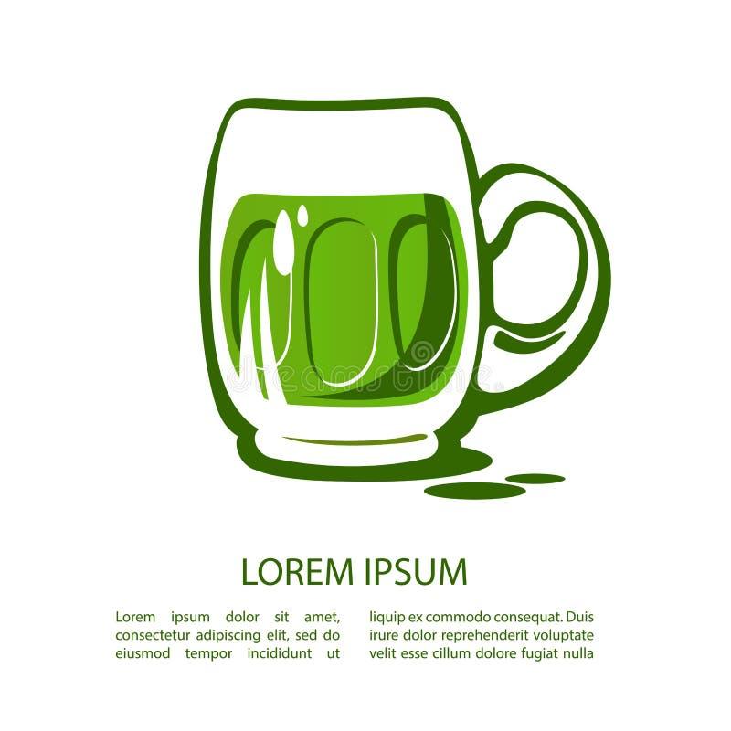 Beer-13 vert illustration libre de droits