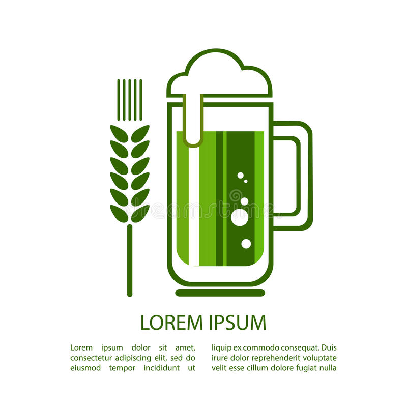 Beer-14 vert illustration stock