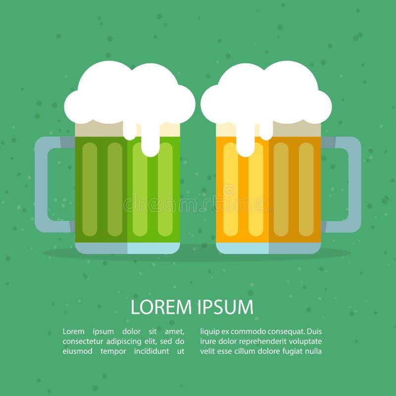 Beer-11 vert illustration libre de droits
