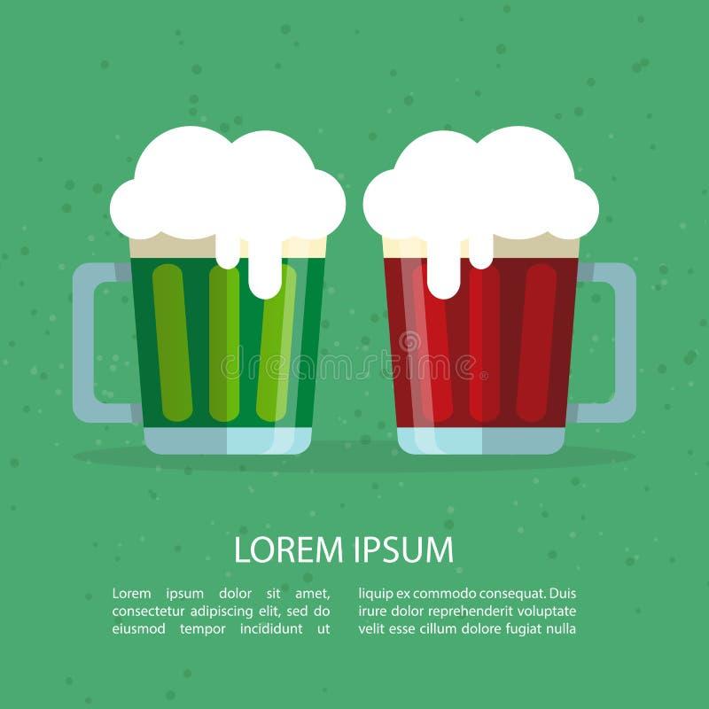 Beer-12 vert illustration de vecteur
