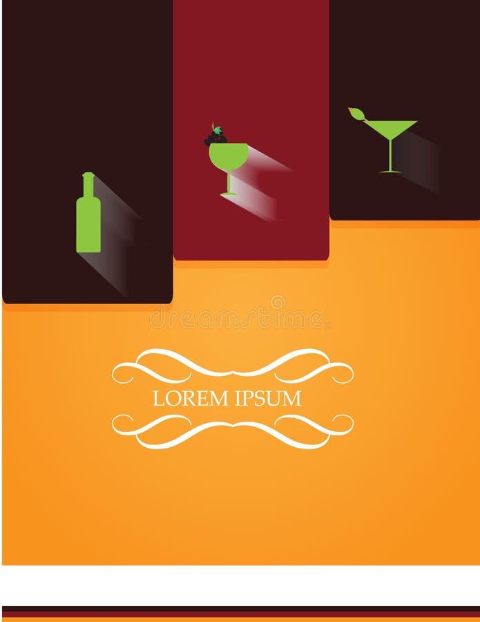 Beer or vine shop flyer menu card. Illustration of Beer or vine shop flyer menu card design stock illustration