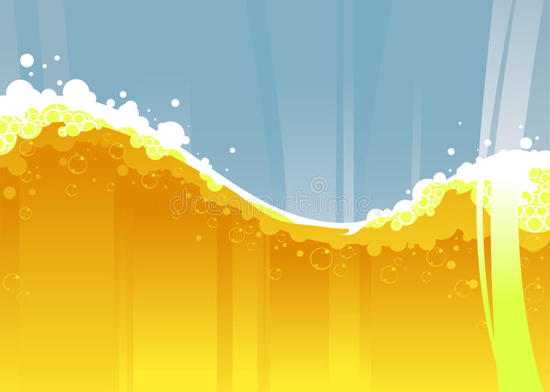 Beer wave. Vector illustration of the beer wave