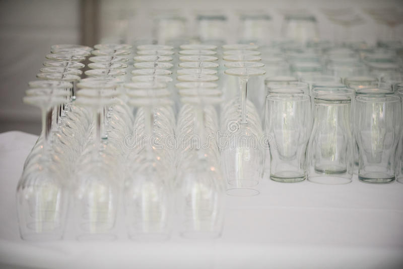 Beer and Wine Glasses stock photo