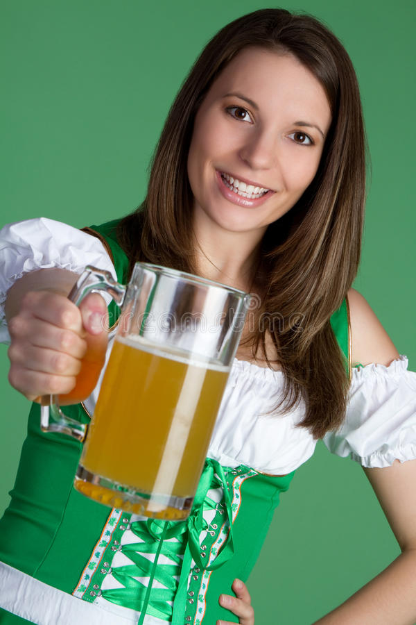 Beer Woman royalty free stock photo