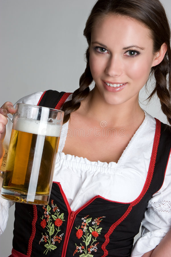 Beer Woman stock photos
