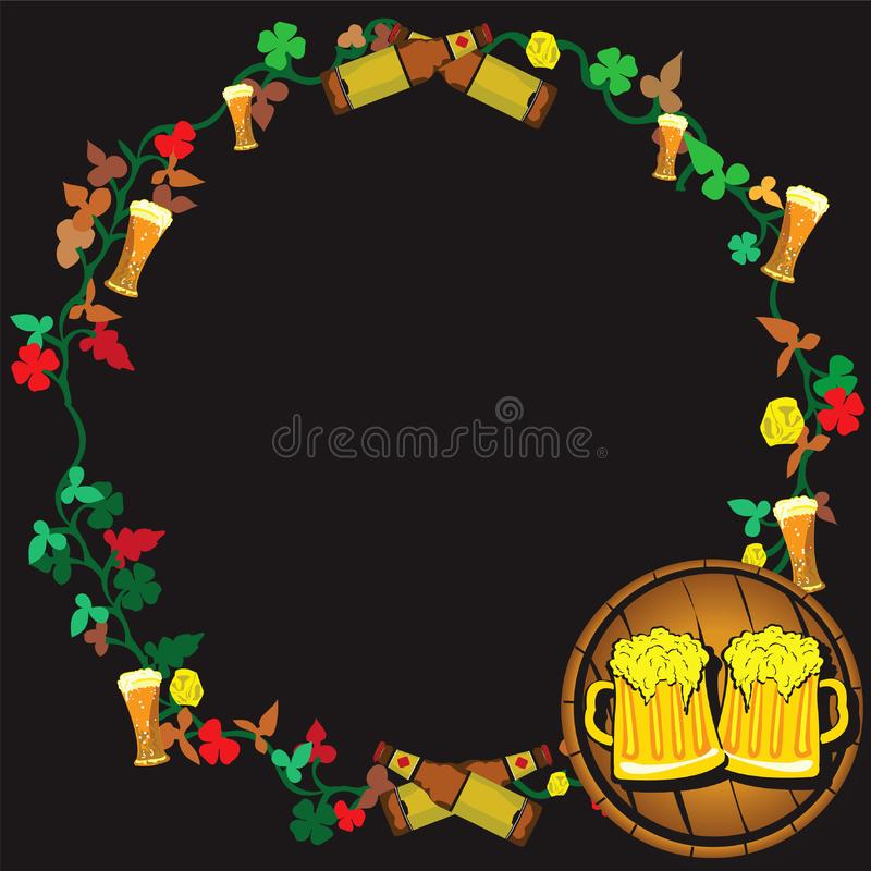 Beer wreath stock images