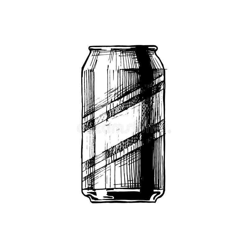 Vector illustration of beverage can royalty free illustration