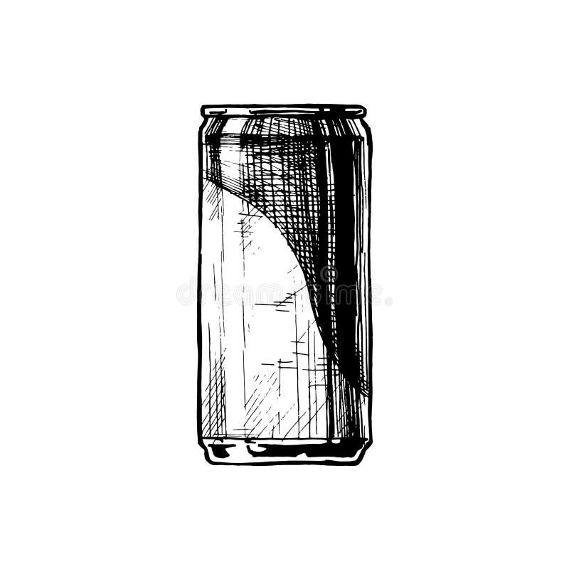 Vector illustration of beverage can stock illustration
