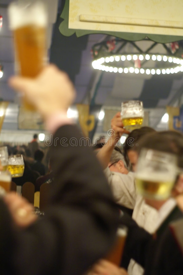 Beerdrinkers stock images