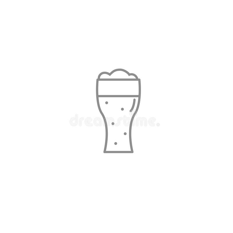Free Beerglass Outline Thin Icon. Alcohol Drinks And National Holidays Symbol. Royalty Free Stock Photography - 107558687