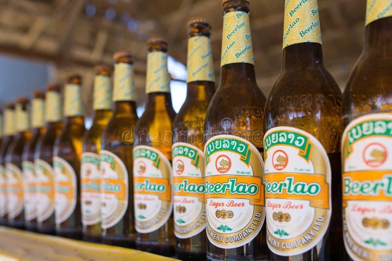 Beerlao har blivit bästa sälja och det ledande ölmärket i Laos royaltyfri bild