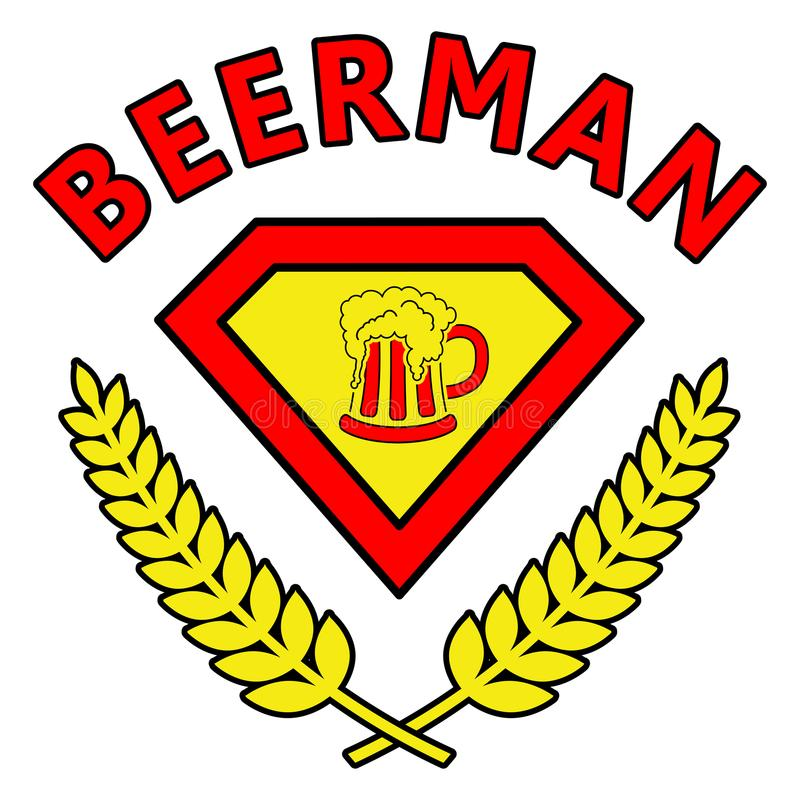Beerman royaltyfri illustrationer