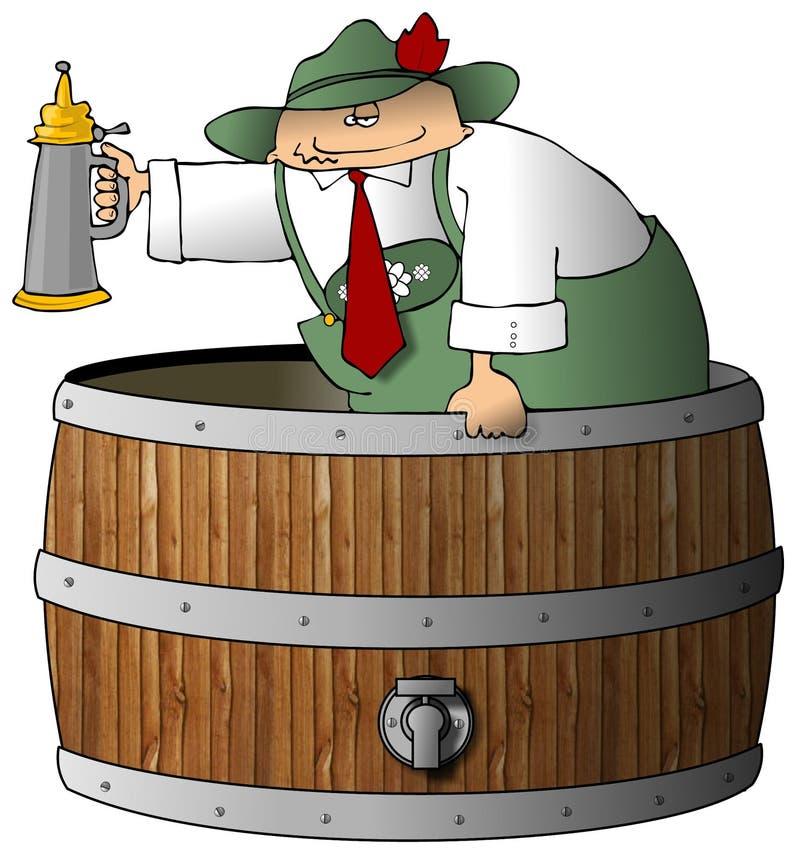 Beermeister royalty illustrazione gratis