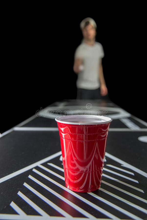Beerpong photo stock