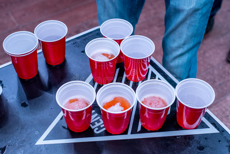Beerpong royalty free stock photography