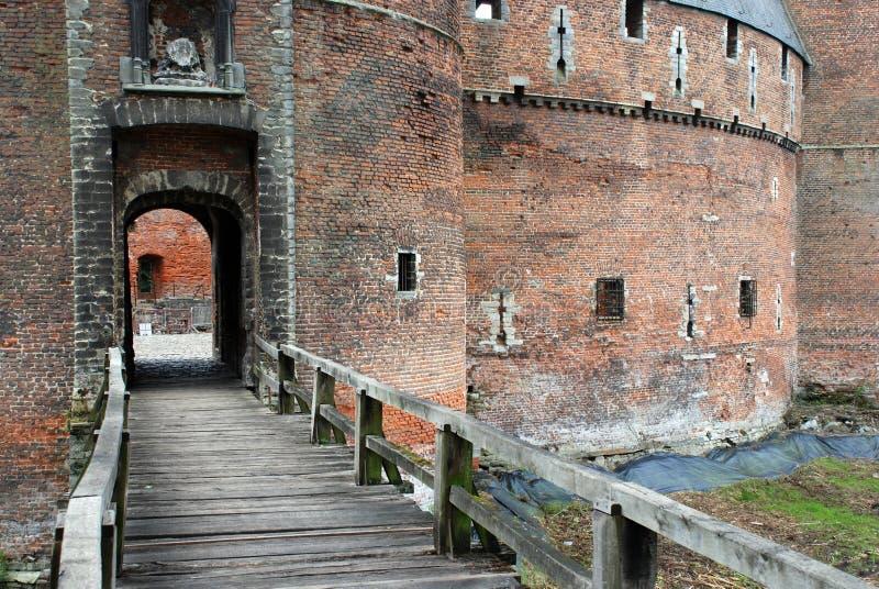 beersel城堡 免版税库存图片